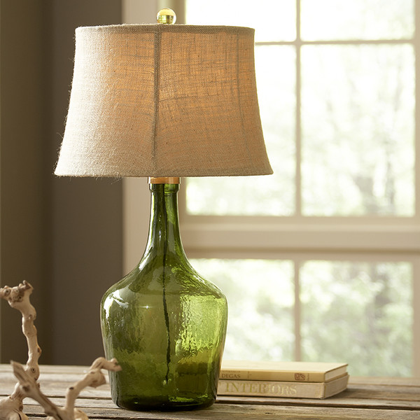 pottery barn clift glass table lamp decor look alikes. Black Bedroom Furniture Sets. Home Design Ideas