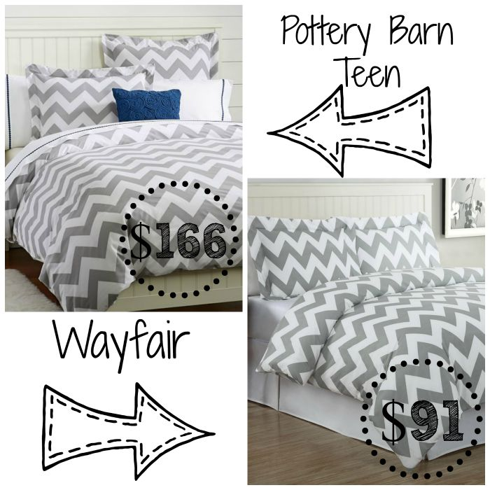 Decor Look Alikes | Grey Chevron Duvet Cover Sets