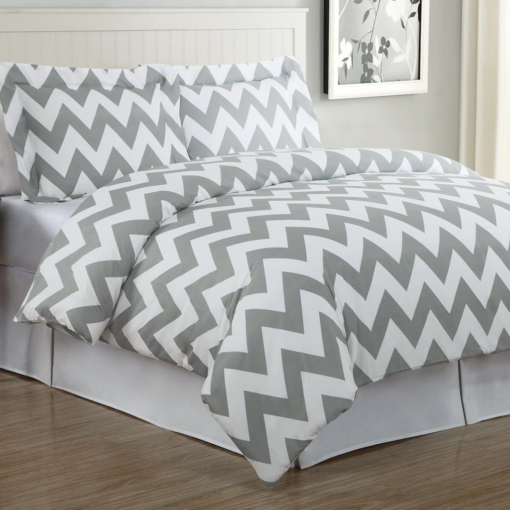 Decor Look Alikes | Echelon Home Chevron Duvet Cover Set