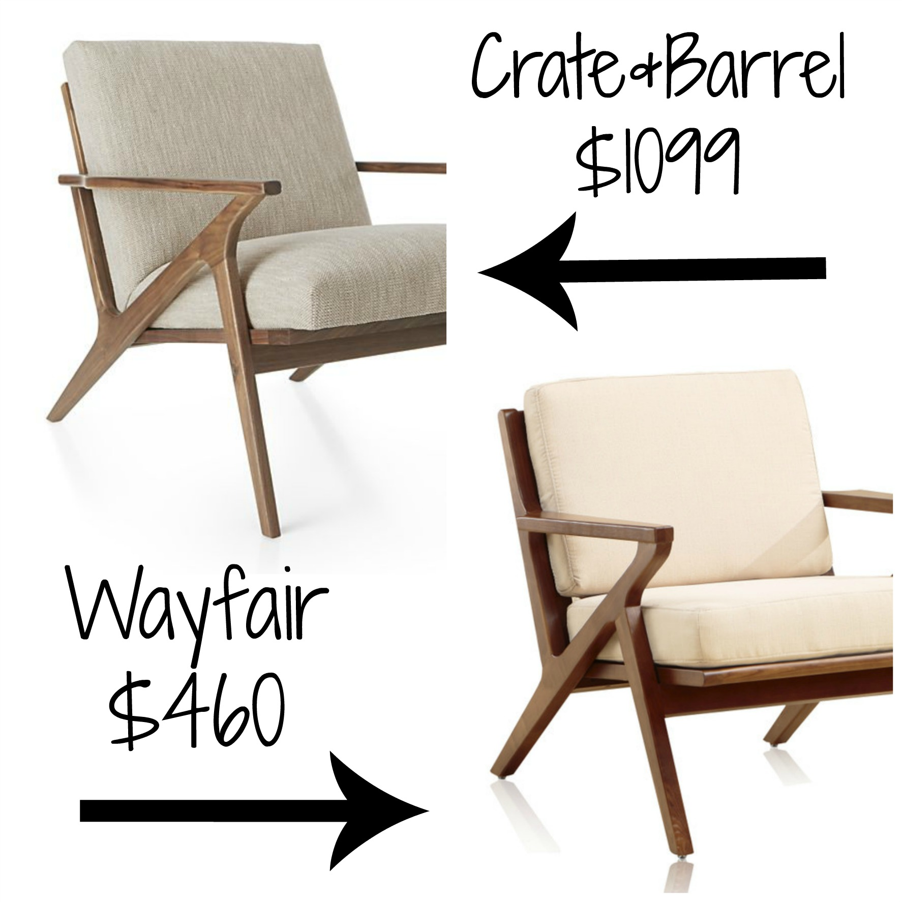 Decor Look Alikes | Crate & Barrel Cavett Chair