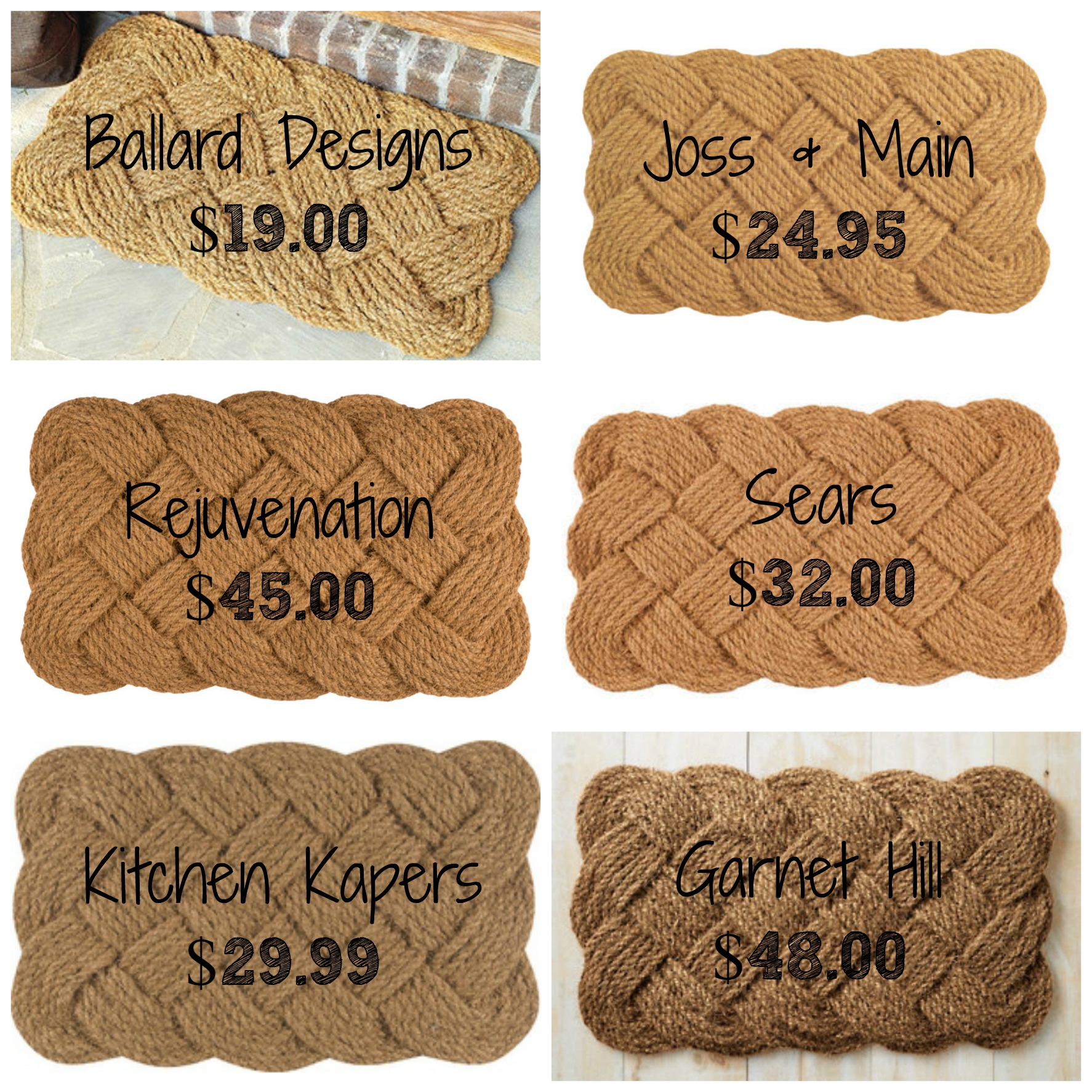 Decor Look Alikes | Knotted Coir Doormats