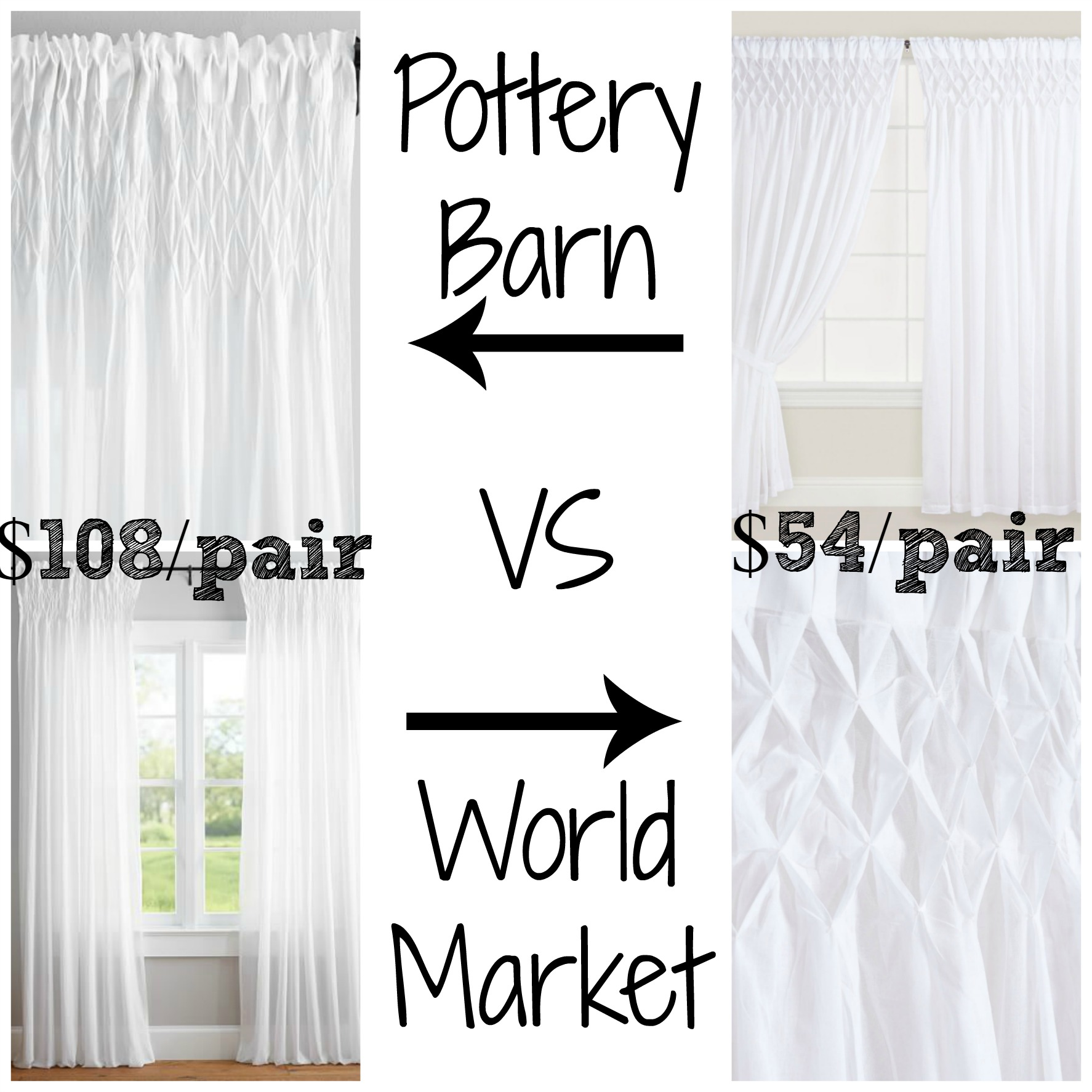 Pottery Barn Smocked Organic Drapes Decor Look Alikes
