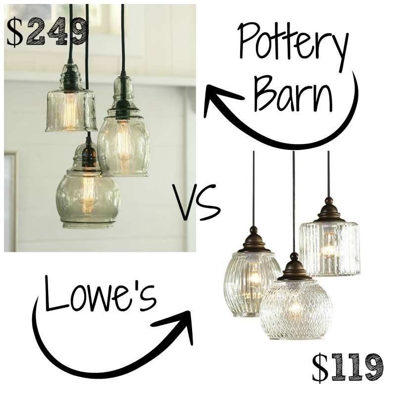 decor look alikes pottery barn paxton glass 3 light pendant. Black Bedroom Furniture Sets. Home Design Ideas