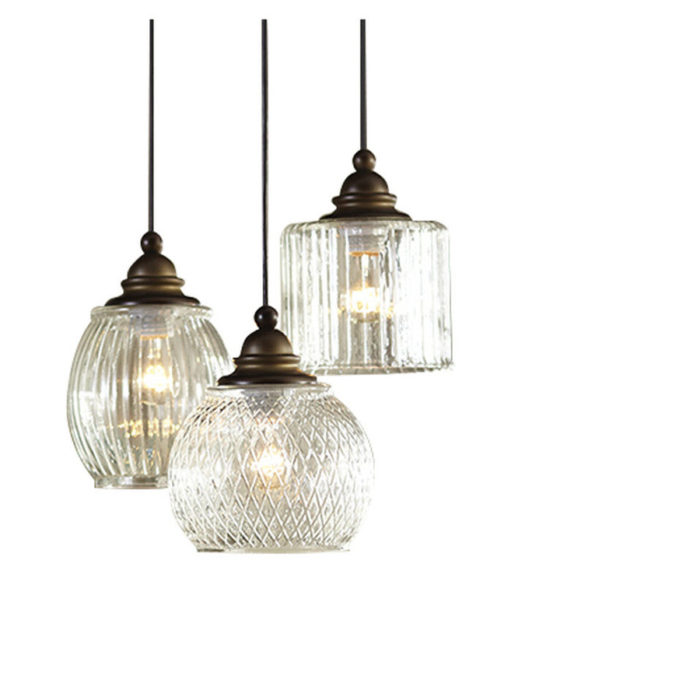 Decor Look Alikes | Lowes allen+roth Vintage Multi Light Clear Glass Dome Pendant