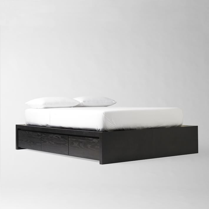 west elm storage platform bed frame decor look alikes. Black Bedroom Furniture Sets. Home Design Ideas