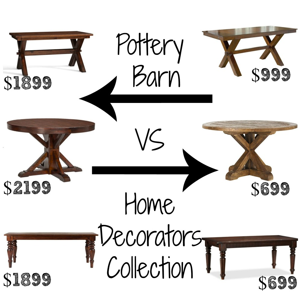 Pottery Barn Decor Look Alikes - Pottery barn sumner dining table