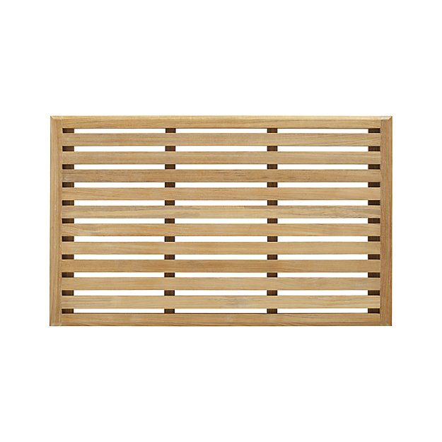 Decor Look Alikes | Crate & Barrel Teak Mat