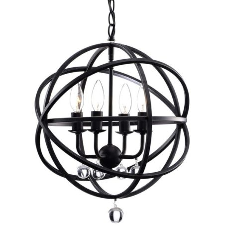 Fresh This is Overstocks Benita Antique Black Metal Sphere Light Crystal Chandelier and is on sale for
