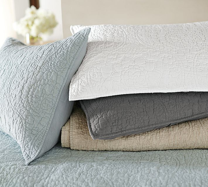Decor Look Alikes | Pottery Barn Floral Stitch Linen Quilt