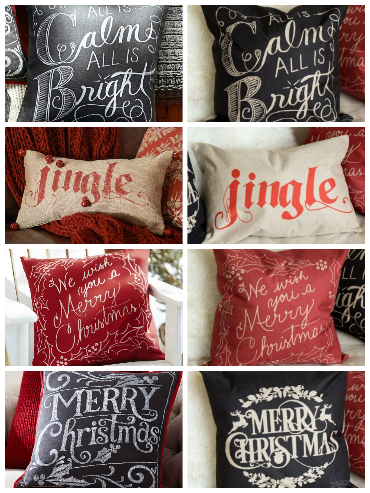 pottery barn christmas pillows Pottery Barn Holiday Pillows | Decor Look Alikes pottery barn christmas pillows