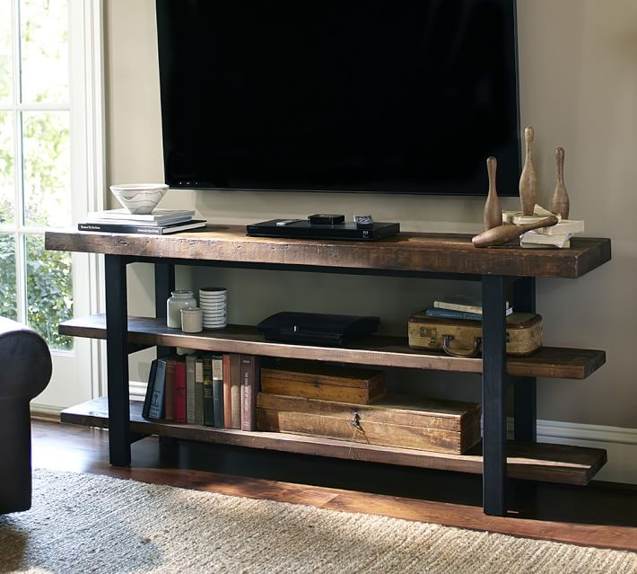 Decor Look Alikes Pottery Barn Griffin Reclaimed Wood Media Console