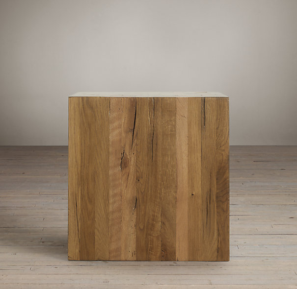 Fresh Restoration Hardware Reclaimed Russian Oak Parson's Cube | Decor  QK03