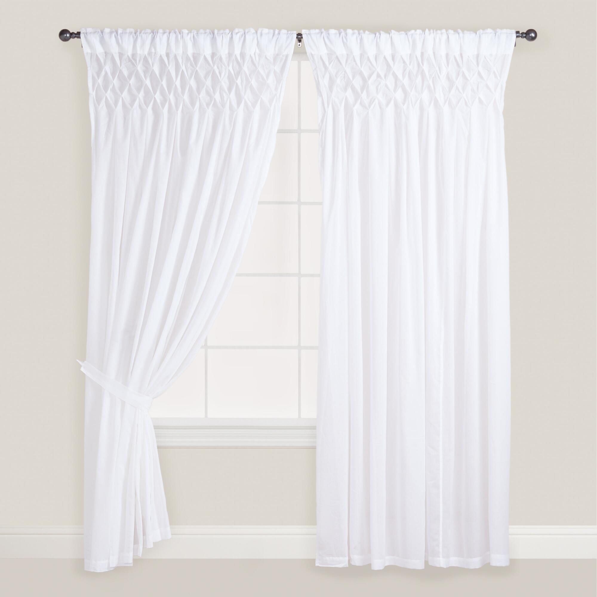 Decor Look Alikes World Market White Smocked Top Curtains