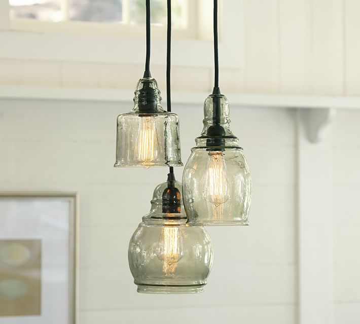 Pottery Barn Paxton Gl 3 Light Pendant Decor Look Alikes